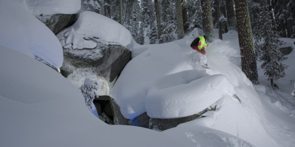 Hidden spots abound inside Sierra-at-Tahoe Resort's boundary lines. Wind-protected lifts mean top-to-bottom skiing & riding on stormy days. – Kyle McCoy