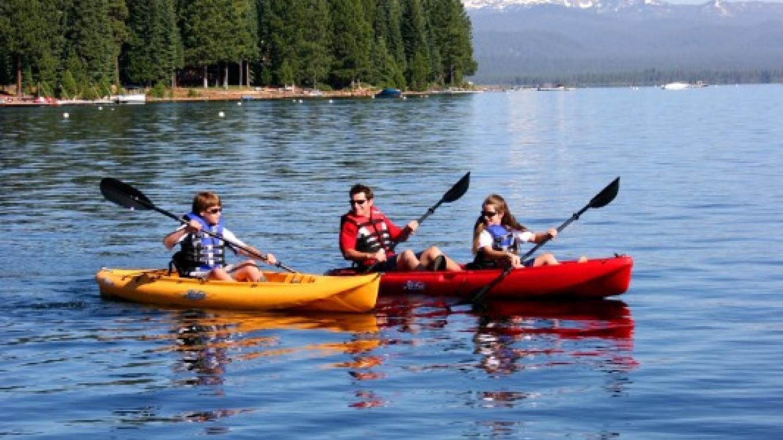 Canoeing on Lake Almanor. – Shannon Morrow