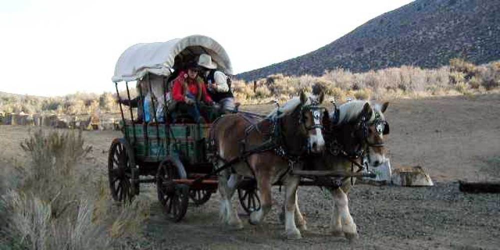 A wagonride on the property – BLM