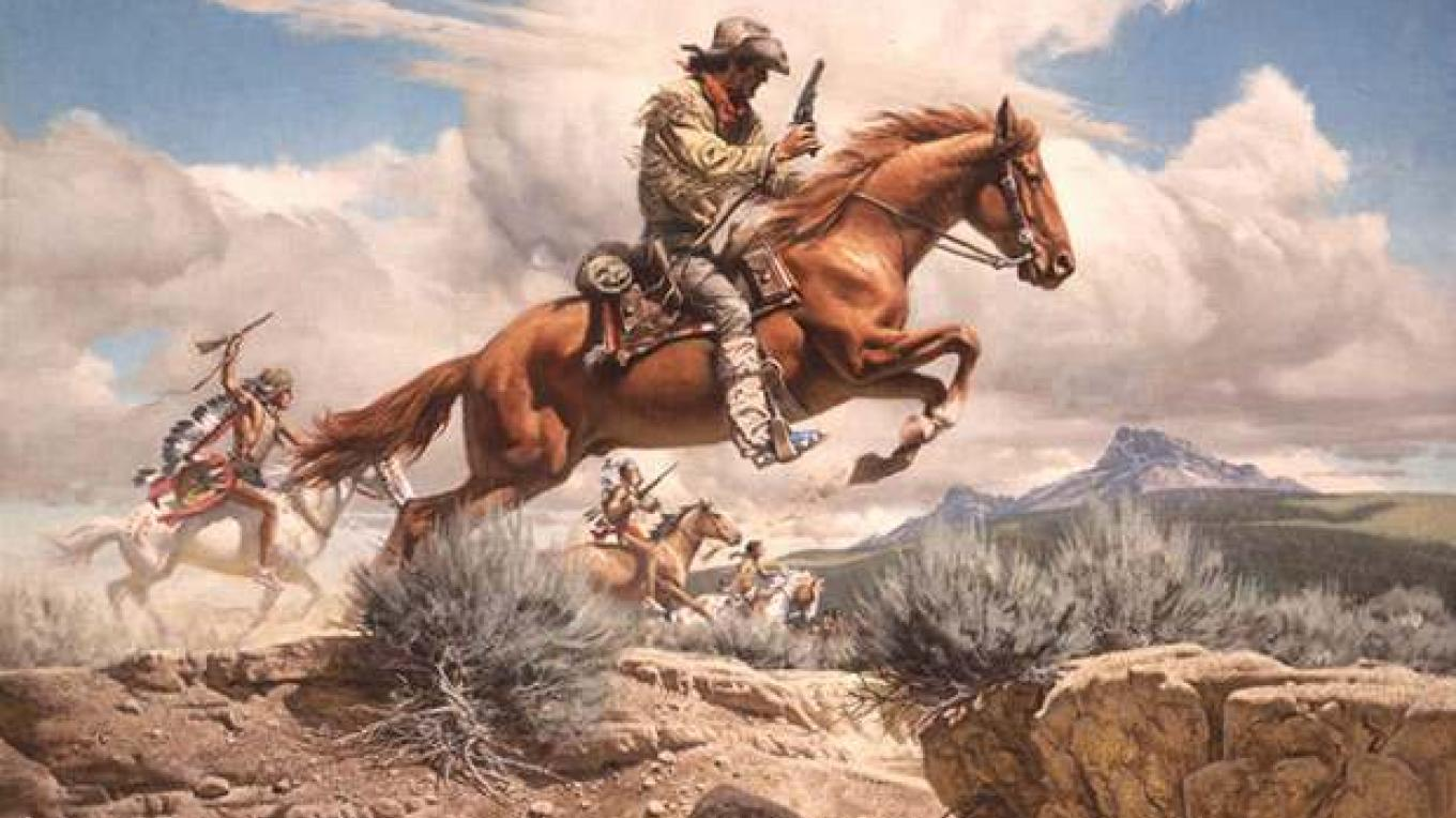 Pony Express romantic art – the-history-notes.blogspot.com