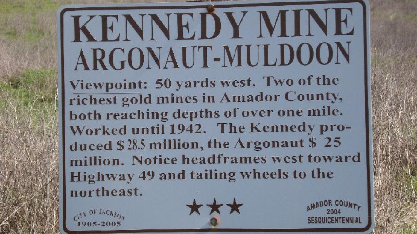 The Muldoon Mine Shaft was briefly considered as an access way to rescue trapped miners during the Argonaut Mine Disaster of 1922. Edward Muldoon, the shaft's namesake, built the DePue home in 1872. – amadorgold.net