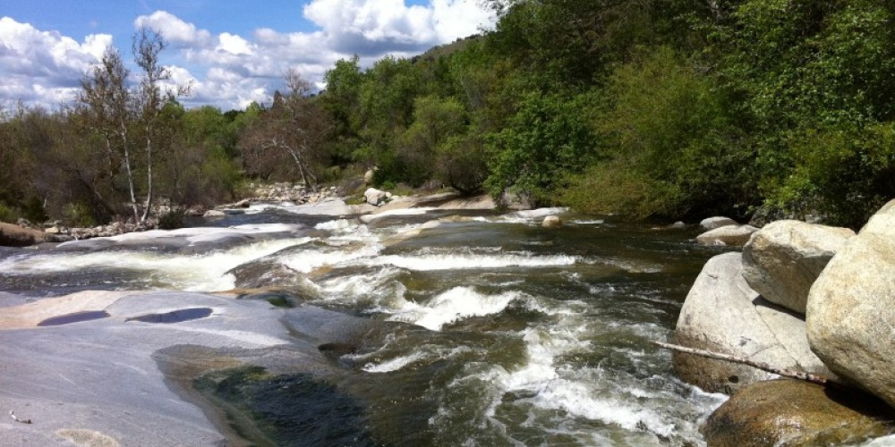 River frontage, three minute hike from Cottage – J. Seligman