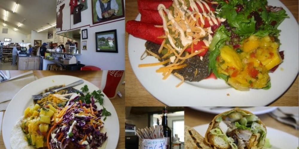 The Whoa Nellie Deli offers a unique menu for travelers and locals