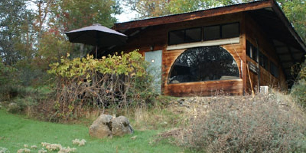 Cort Cottage Bed and Breakfast, view from the meadow below the cottage – Elsah Cort