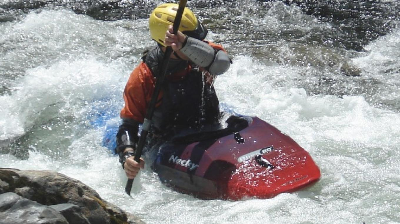 Kayaker Dave Steindorf on Tiger Creek Dam Run – Katherine Evatt