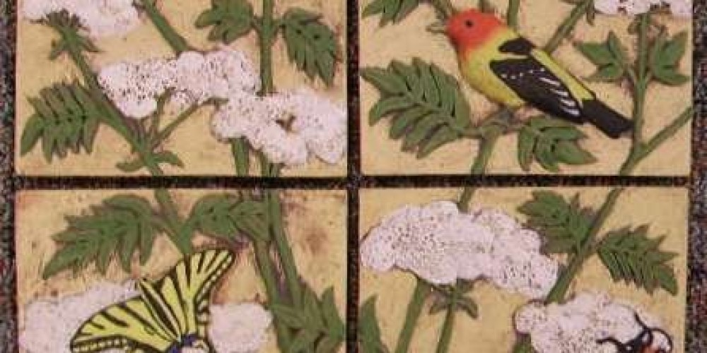 Elderberry with Tanagers and Swallowtail, by Sara Steck – Patricia Holton