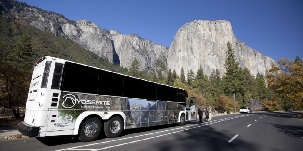 Bus Tour in Yosemite Valley