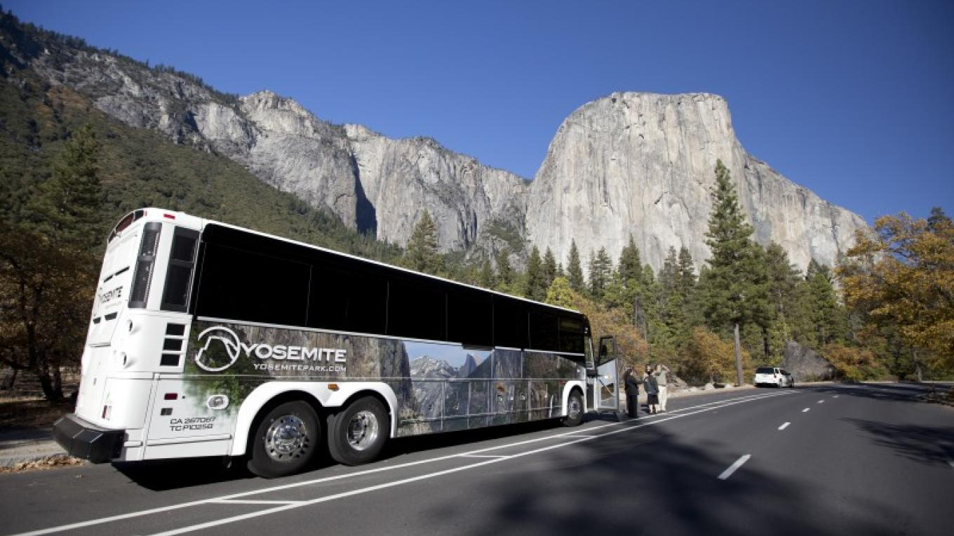 Bus Tour in Yosemite Valley