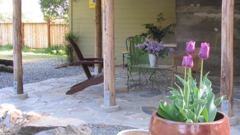 Back patio at Fivespot in the spring – Mahalia LoMele