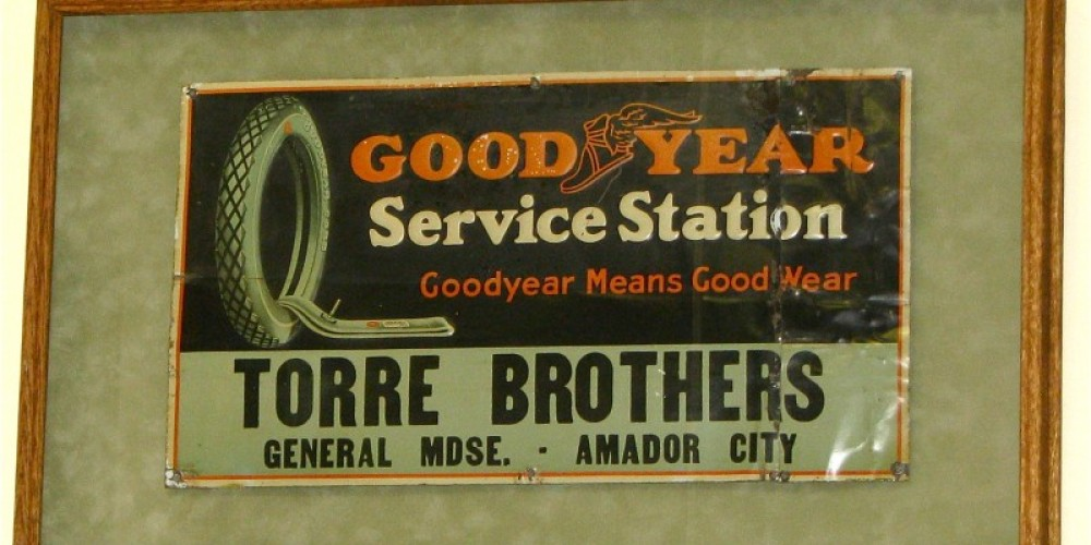 Here is an original sign from the tire shop. – Karrie Lindsay