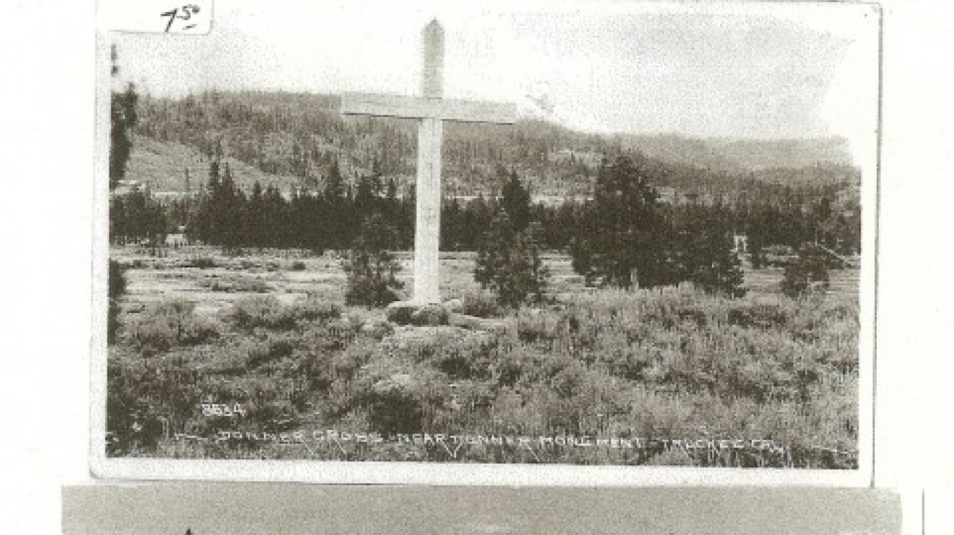 Original locations of the Donner Cross – © TDHS photo collection from the Tom Macaulay Collection