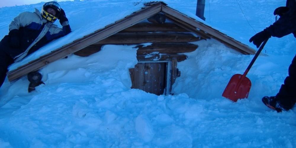 Bald Mtn. Log Cabin Warming Hut – DJ's Snowmobile Adventures, Inc.
