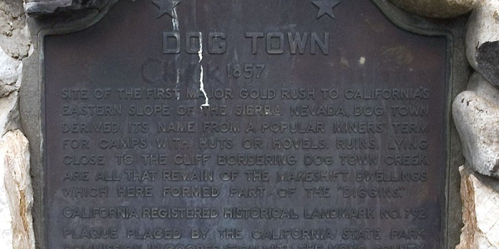 Site of Dog Town in Mono County, California – Noehill.com