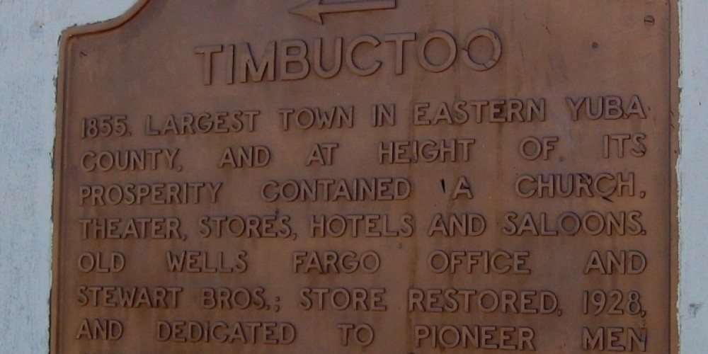 Timbuctoo Marker – Syd Whittle, 2006