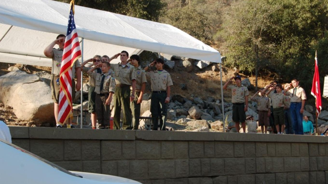 Boy Scouts perfom Pledge of Alliance at the start of the day – Provided by U.S. Army Corps of Engineers