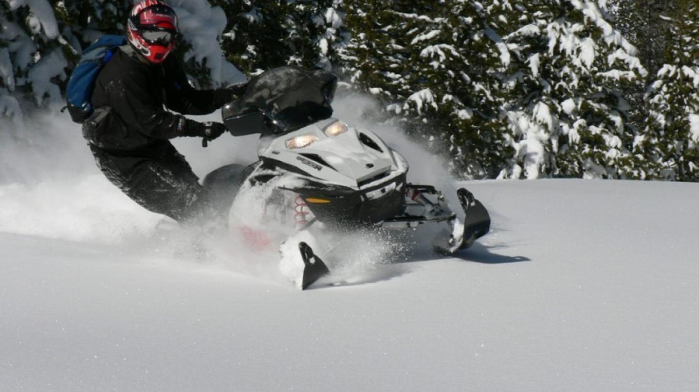 You can snowmobile for a whole day without encountering other people. – Mary Davey