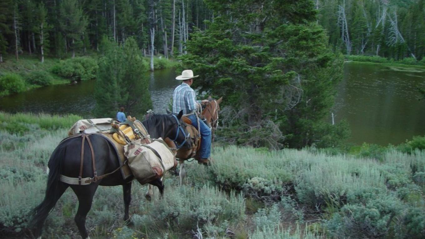 Riding to Emerson Lake for some solitude and fishing in the South Warner Wilderness. – Jean Bilodeaux