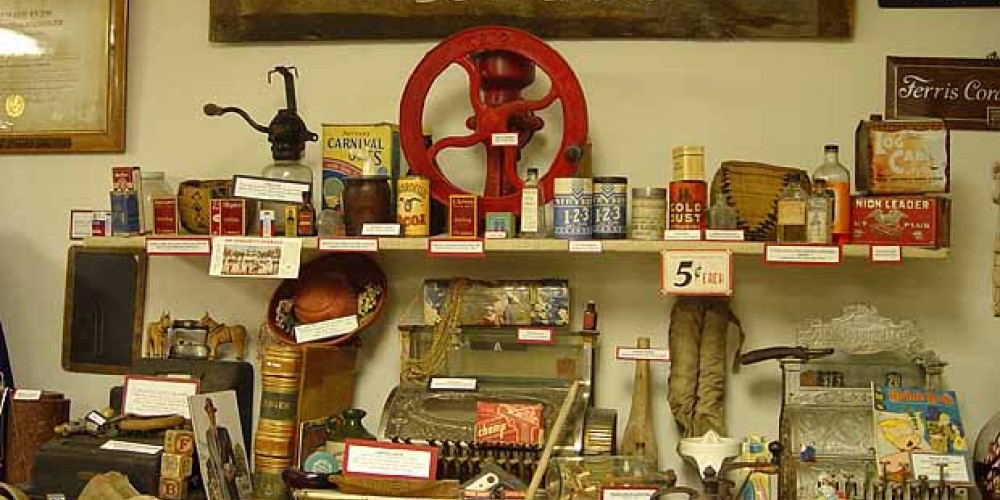 Kober Drygoods Store displays a variety of items from 1888 - 1984 its years of operation