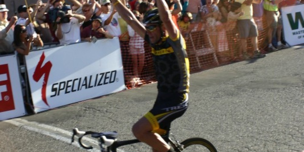 Lance Armstrong wins the Nevada City Classic in 2009 – Dave Carter