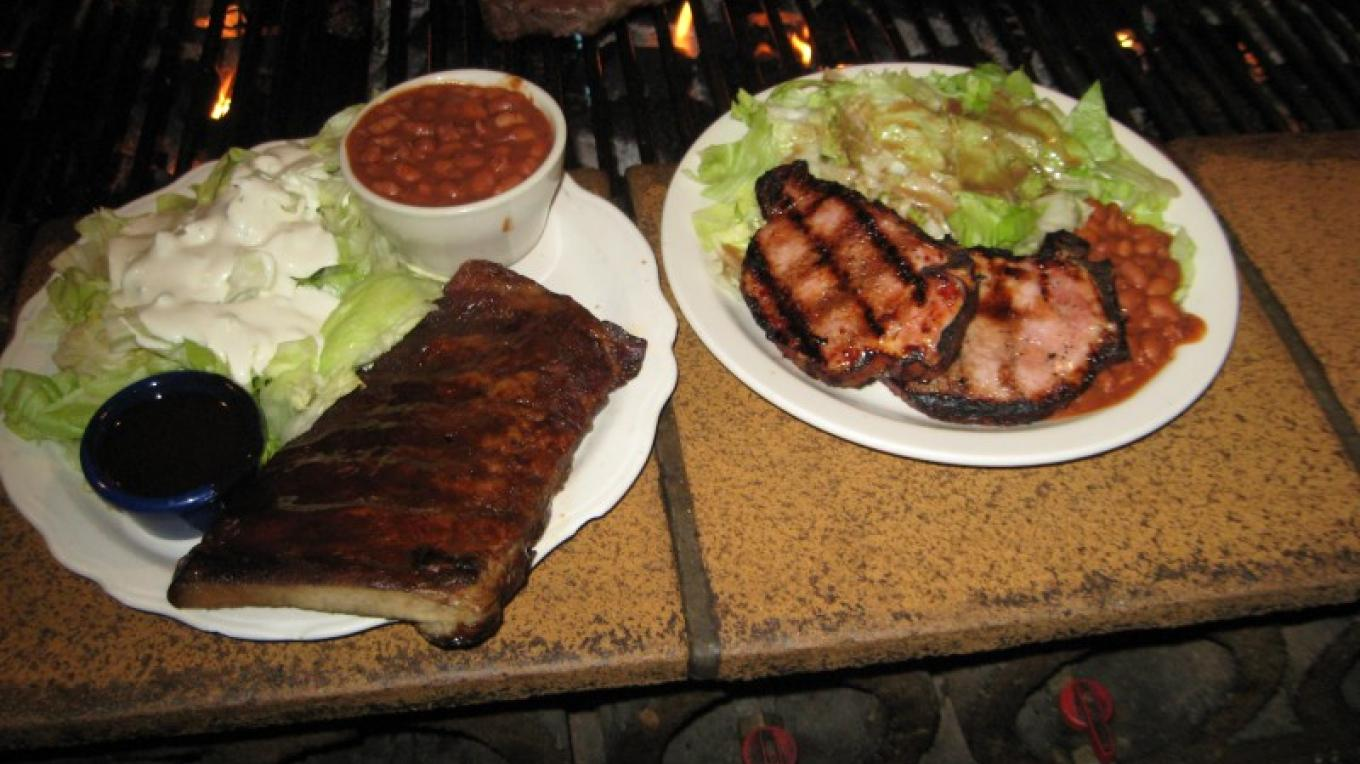 ribs and chops hot off the grill – michael byrne