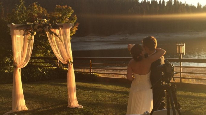 Lakefront wedding – www.basslake.com