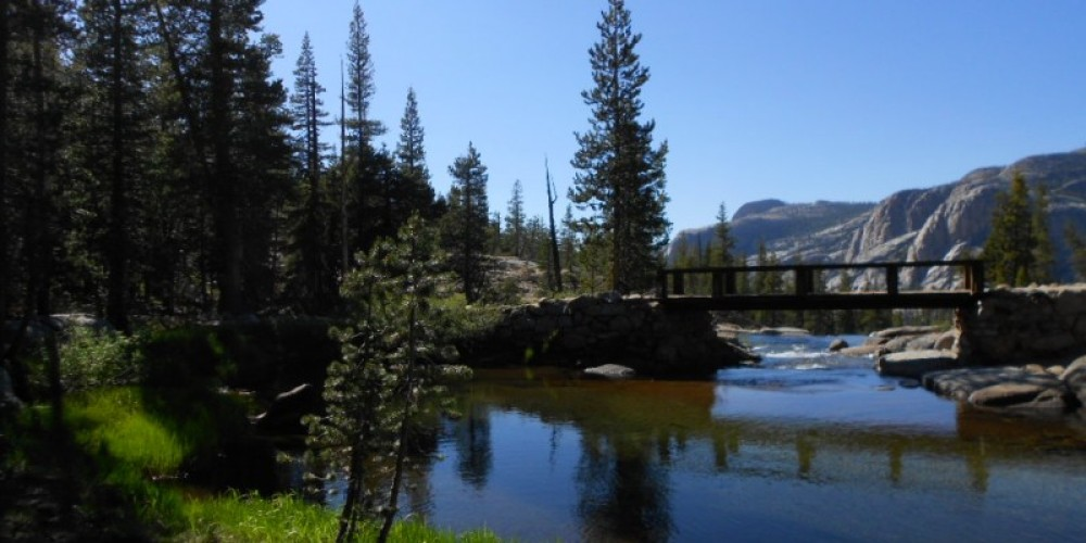 Trail Crossing over the Tuolumne River on the trail to Glen Aulin