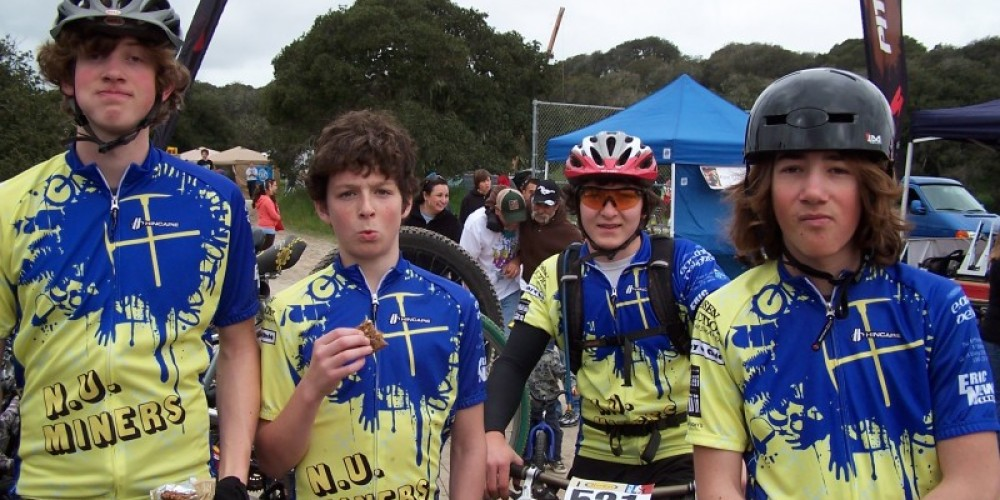 Riders from the Nevada Union HS Mountain Bike Team