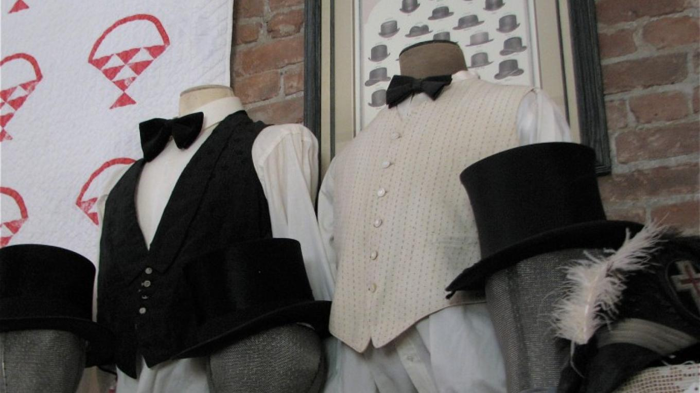 Men's finery is also available for purchase. – Karrie Lindsay