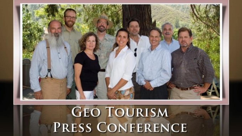 Event speakers at the Mariposa Geotourism Launch: Ron Loya, Matt Peterson, Kim Carr, John Bock, Nicole Dejonghe, Bradley Cleveland, Jim Dion, Bob Kingman. – miguel@numinosity.net