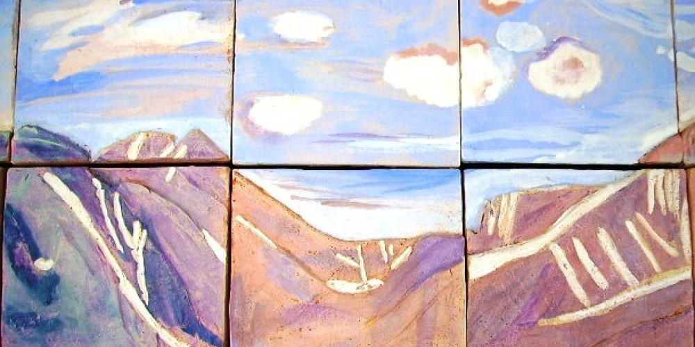 Mountains in progress by Big Pine Students – Patricia Holton