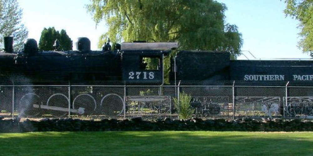 Southern Pacific Locomotive on museum grounds