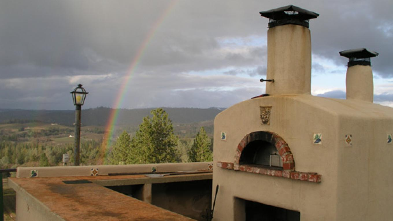 rainbow over wood oven – Brian Fitzpatrick