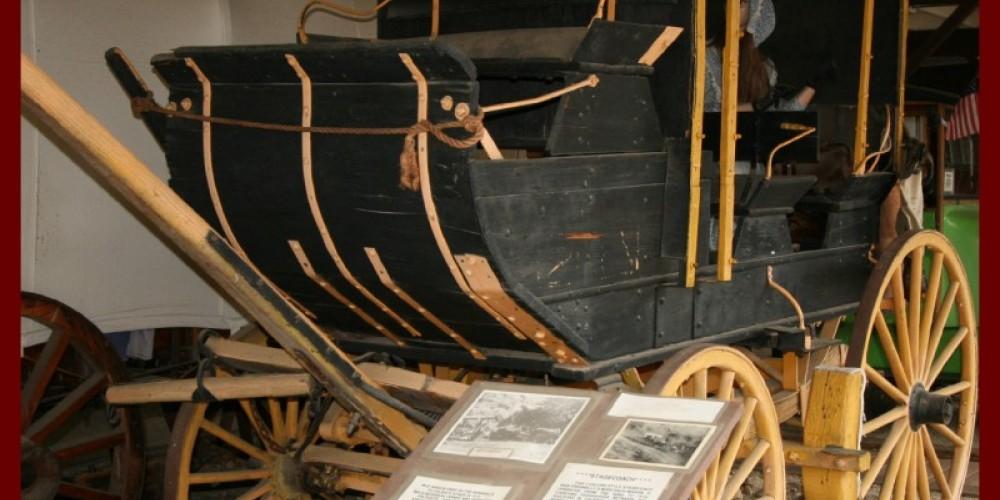 "Stagecoach that was used in the award winning movie ""Stagecoach"", starring John Wayne. – Liz Bardos"
