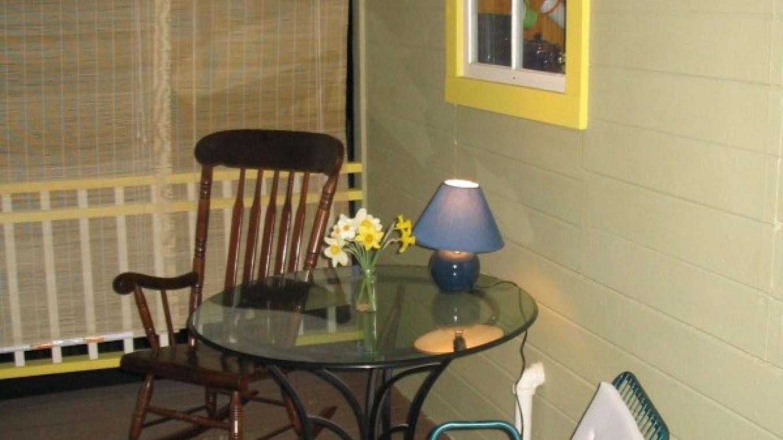 Fivespot's front porch at night – Mahalia LoMele