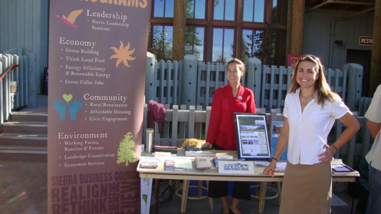 SBC table at the Lake Tahoe Federal Summit, 2010. – SBC