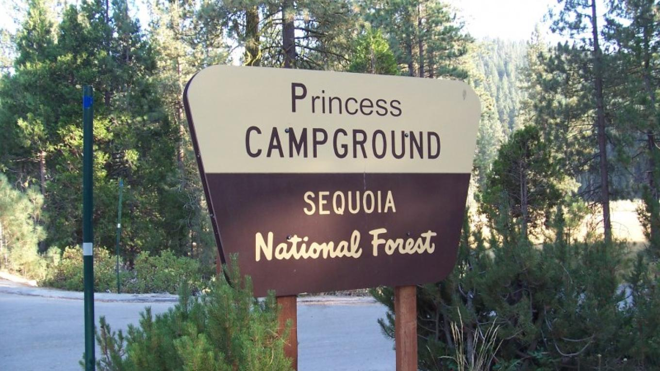 Entrance to Princess campgrounds
