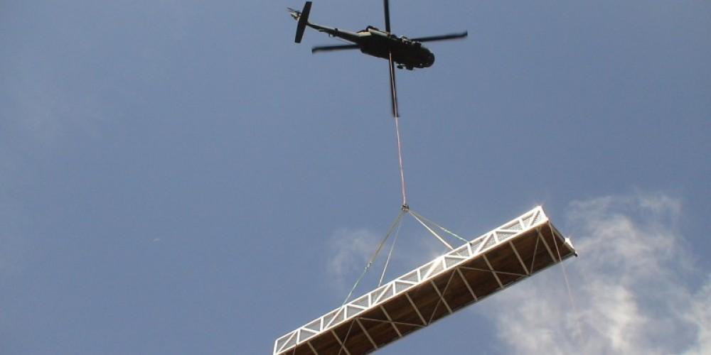 Blackhawk helicopter transporting bridge section at Big Sandy site - Reach 2 – Steve Haze