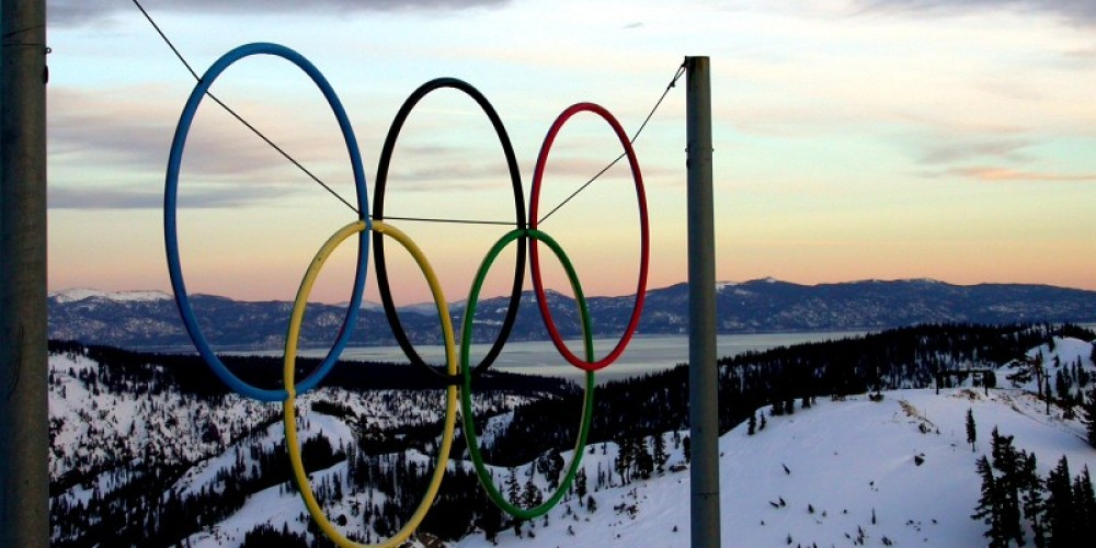 Olympic Rings at Squaw. – Unknown