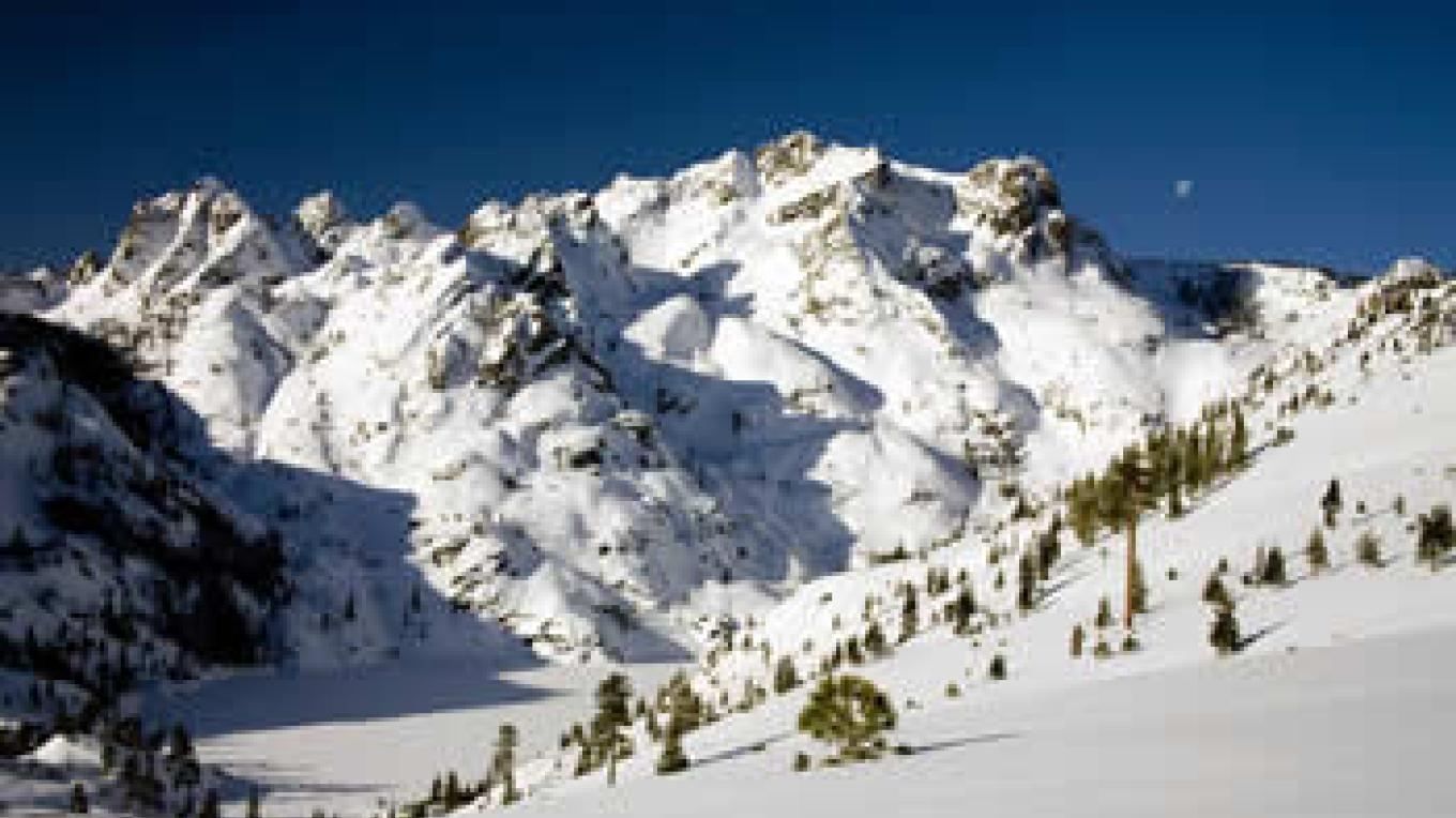Sierra Buttes in wintertime. The Buttes are at the southwest border of the Lakes Basin. – Darby Hayes