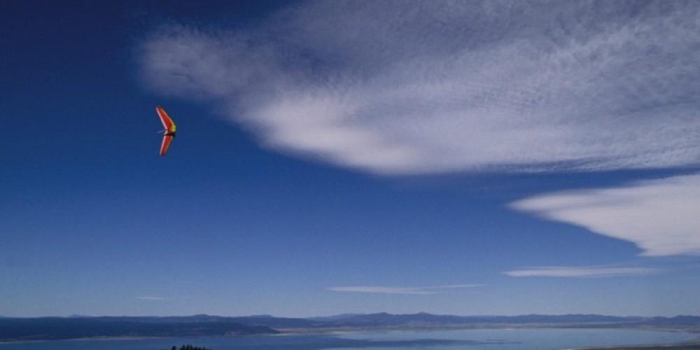 Paragliding over Goose Lake, California – wallpaperweb.org