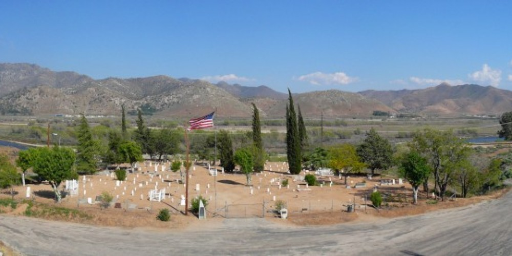 Panorama of Kern River Historical Cemetery taken in May 2010 – Richard Cayia Rowe