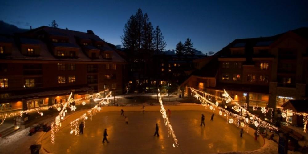 Ice skating at Heavenly Village next to Lake Tahoe Resort Hotel. – Lake Tahoe Resort Hotel