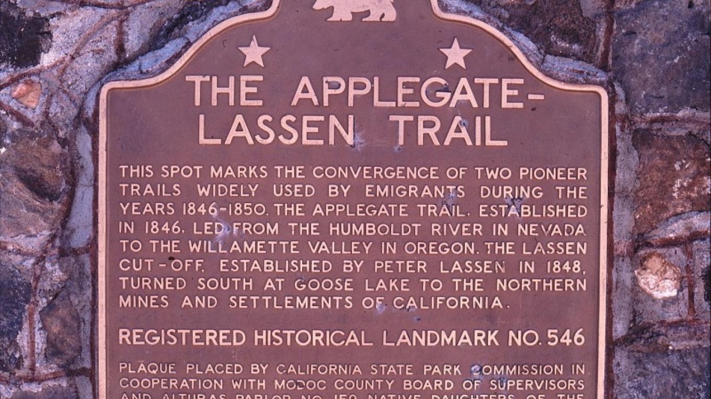Monument on Fandango Pass near Alturas, CA