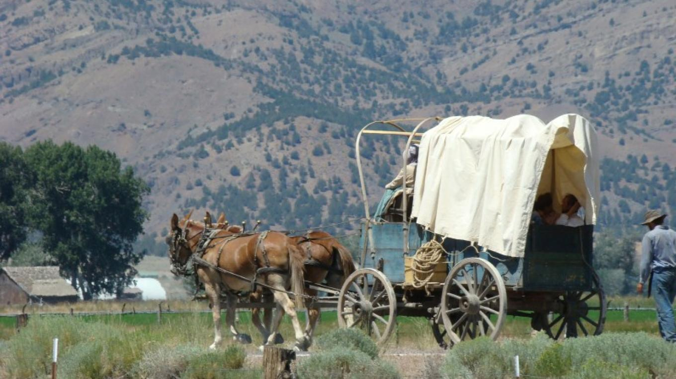 Hitting the lush greenery and abundant water of Surprise Valley after traversing the deserts of Nevada, caused the pioneers to name the area Surprise Valley. – Jean Bilodeaux