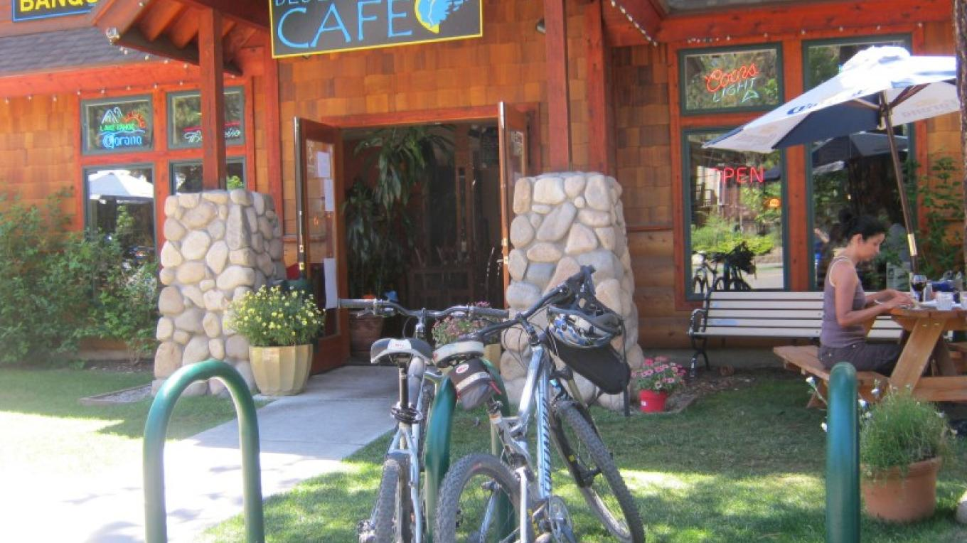bicycle friendly parking station - relaxed outdoor garden seating – Crystal Ricotta