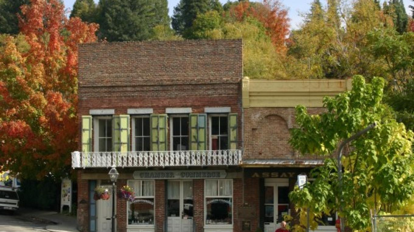 Fall colors surround Nevada City's South Yuba Canal Building. – Dave Carter