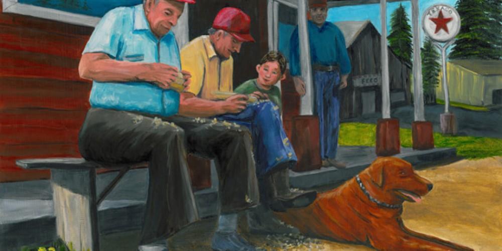 Men on Porch by Gail Finn. – Nadi Spencer