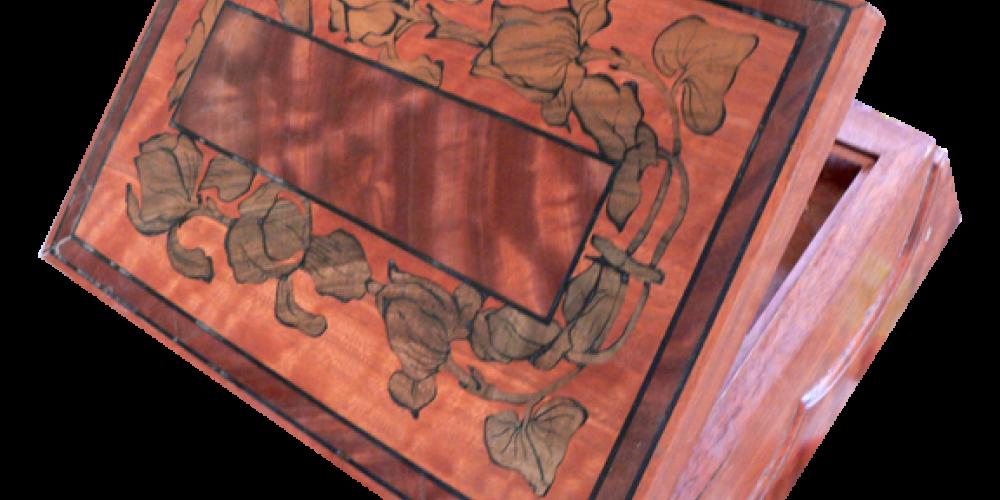 Inlaid wood box by Ron Zanini. – Nadi Spencer