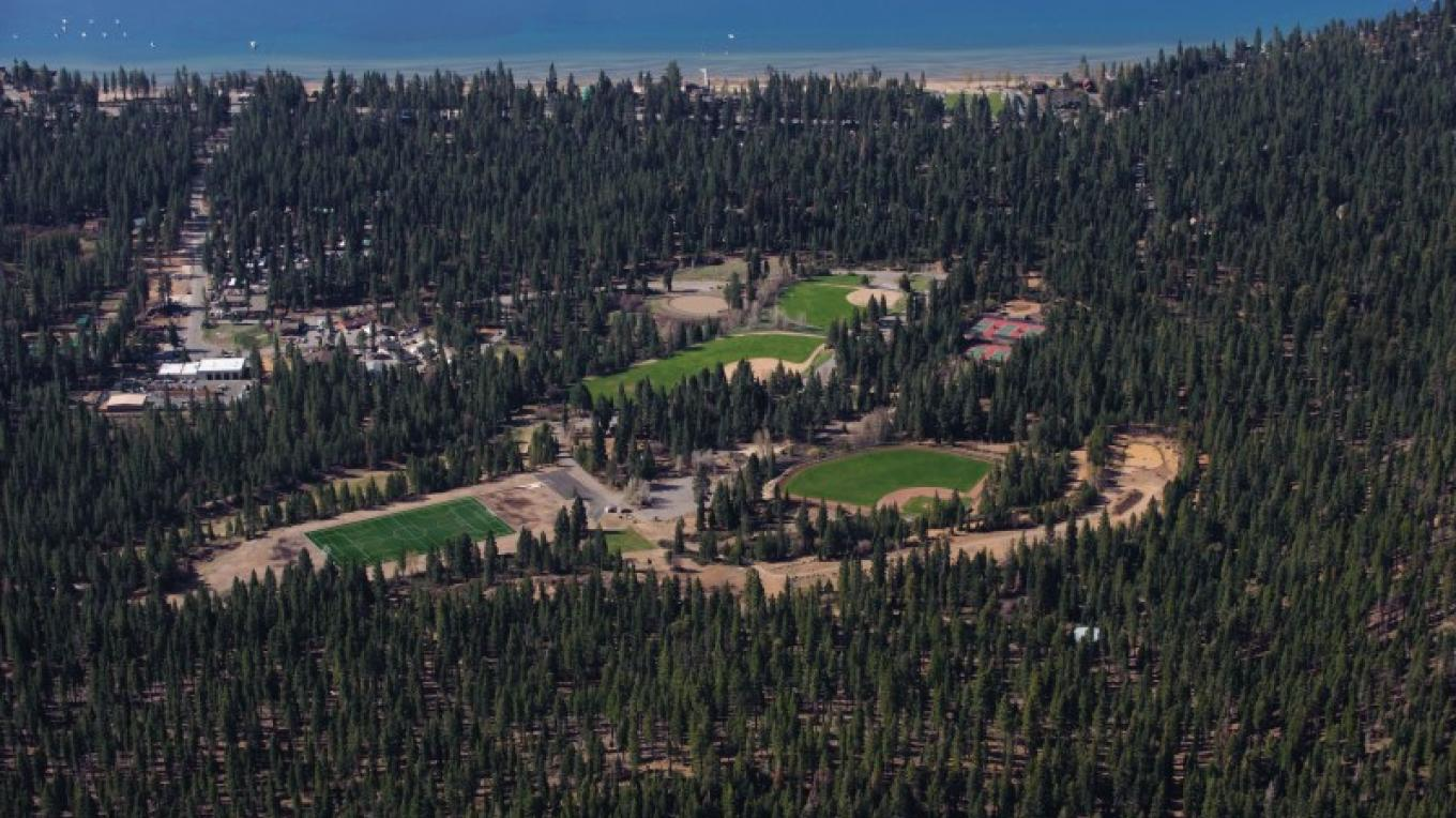 Aerial Photograph of the North Tahoe Regional park – Court Leve