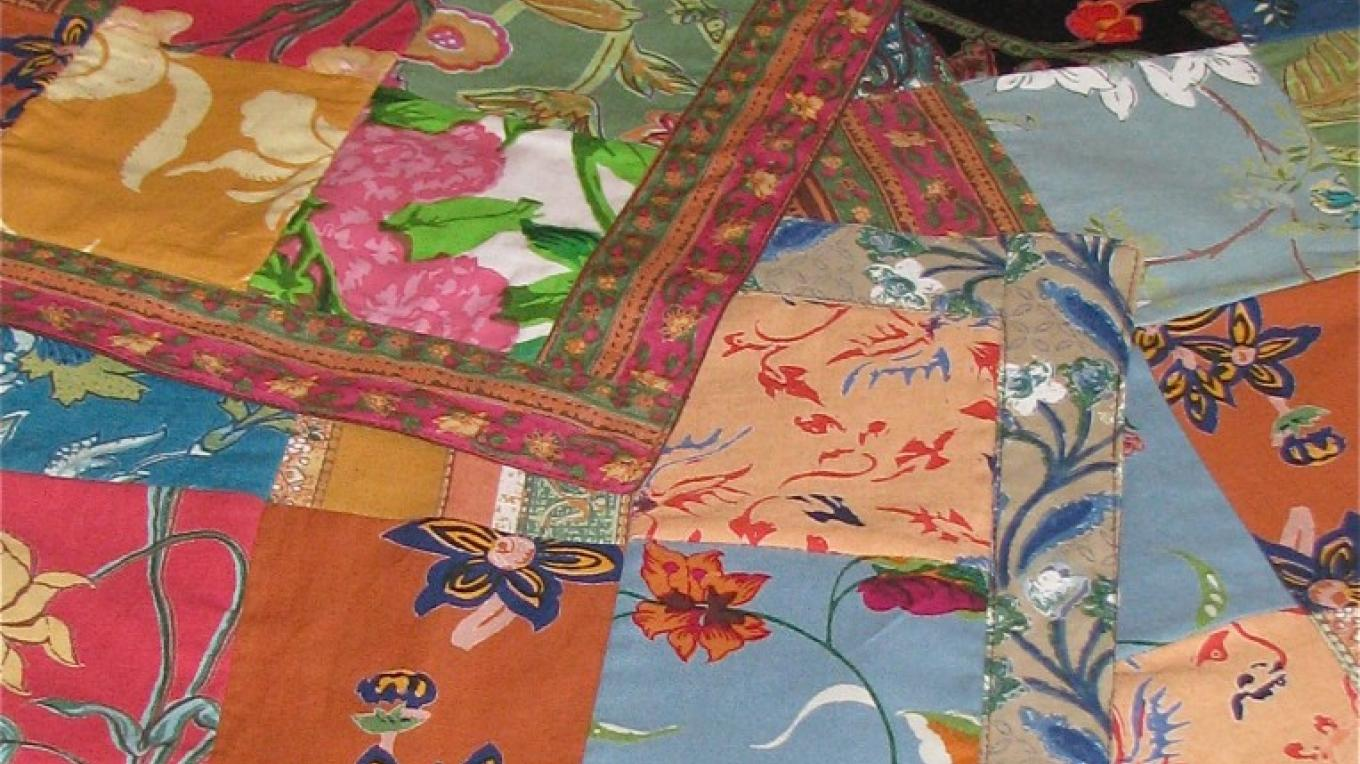 Placemats made in India from recycled scraps of fabric, add color and sparkle to any sideboard or table. Plus, their purchase supports recycling efforts. – Karrie Lindsay